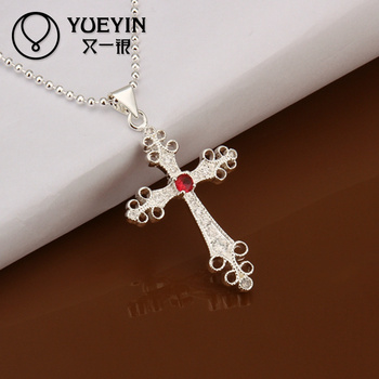 Baroque style silver ruby stone jesus christmas cross pendant baroque style silver ruby stone jesus christmas cross pendant necklace aloadofball Image collections