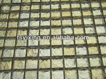 Mu color oro piastrelle di vetro prezzi controsoffitto mosaico