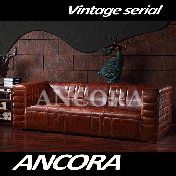 Vintage High Quality Modern Sofa Two Seats Couch Manhattan Leather Sofa Wholesale Couches A131