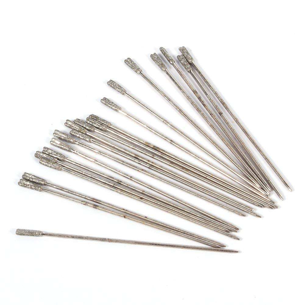 0.02//0.04//0.05//0.06//0.08//0.05inch Shank Lapidary Drill Bits Diamond Power Silver