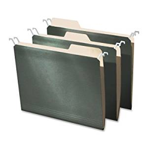 Ideastream Products Products - Hanging Folders, Visible Tabs, Letter Size, 20/PK, Green - Sold as 1 PK - Hanging file holders feature a patented design that lowers the top rail of the hanging folder so that the tabs of your manila folder are completely visible. Instead of relying on extra tabs on