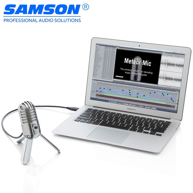 Samson Meteor Mic USB Studio Condenser Microphone for Computer Home Studio, Skype, iChat or Voice Recognition Software