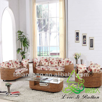 Fashionable Leisure Indoor Seagrass Sofa Sets