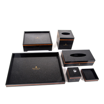 Acrylic hotel amenities set manufacturer , 5 star hotel supply