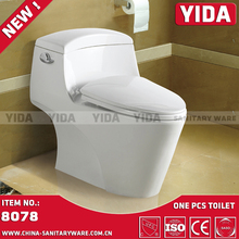Chaozhou ceramic one piece toilet factory exporter, washdown p trap toilot wc, china wc
