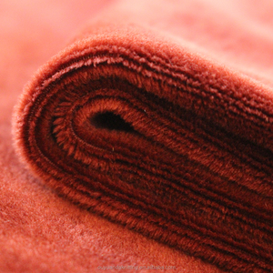 High Quality Warp Knit Brown Color 200-300gsm Stretchy Velvet Velour Plush Fabric