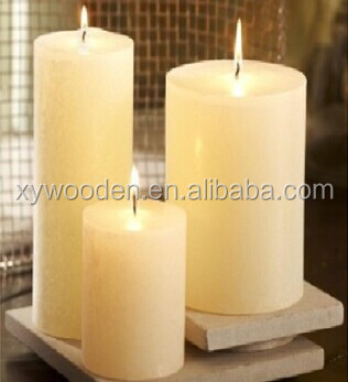 2015 cheap multi-colored or white pillar candle