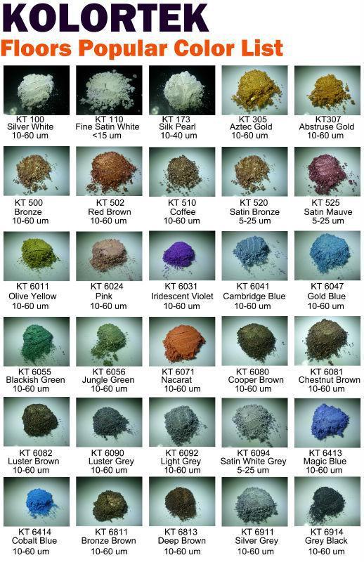 Metallic Epoxy Floor Mica Powder Pigments Manufacturer