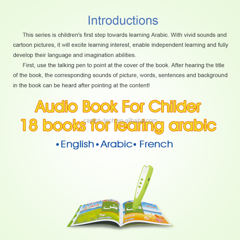 English Arabic French Preschool Educational Toy/ Reading Pen With ...