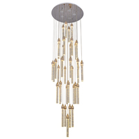 Modern home hotel decoration luxury round shape glass tube crystal chandelier