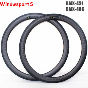 Bmx rims 20 inch carbon 38mm depth 23mm width 12K Matt folding bmx bike wheel rim 20 customized 3K bmx 451 406 carbon rim