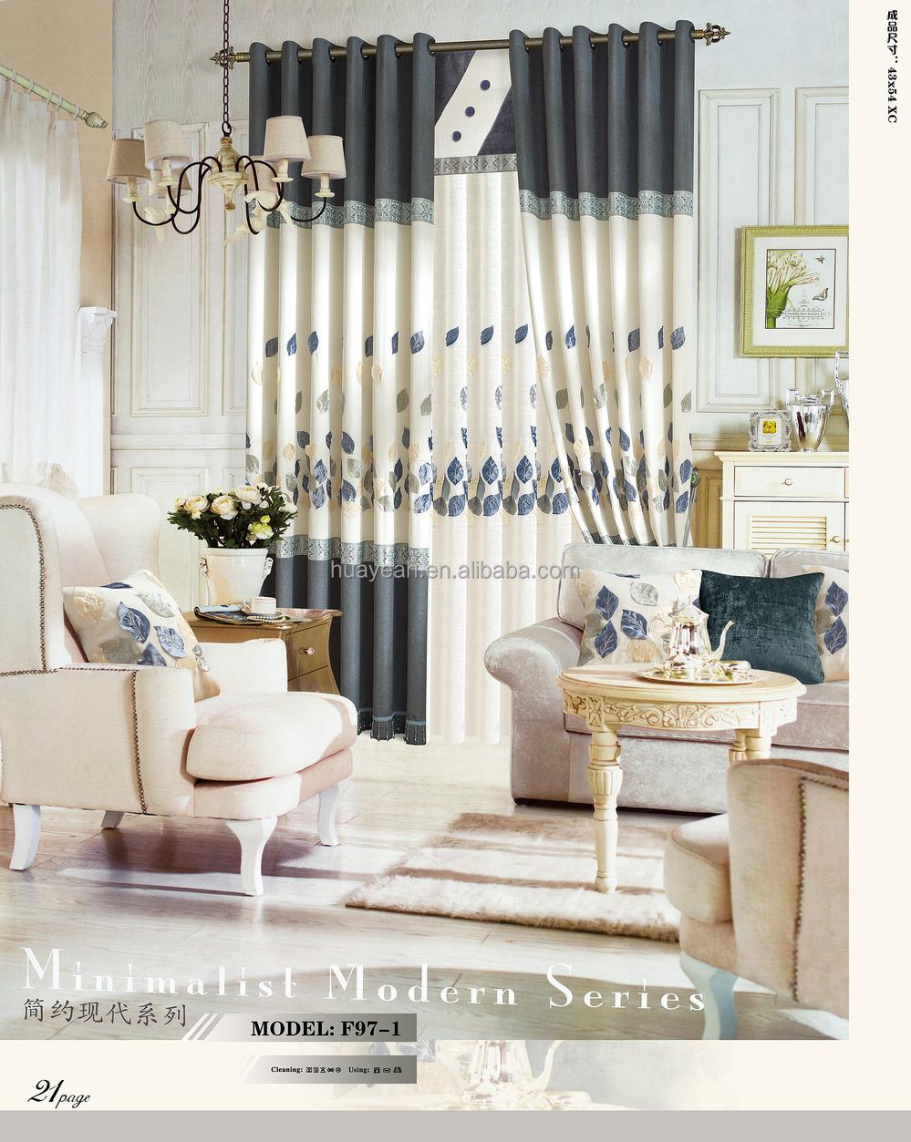 Simple Feuille Design Nouveau Modèle De Rideau De Fenêtre Pour Salon - Buy  Nouveau Rideau De Fenêtre Modèle,Rideaux De Fenêtre Pour Noël,Dernière ...