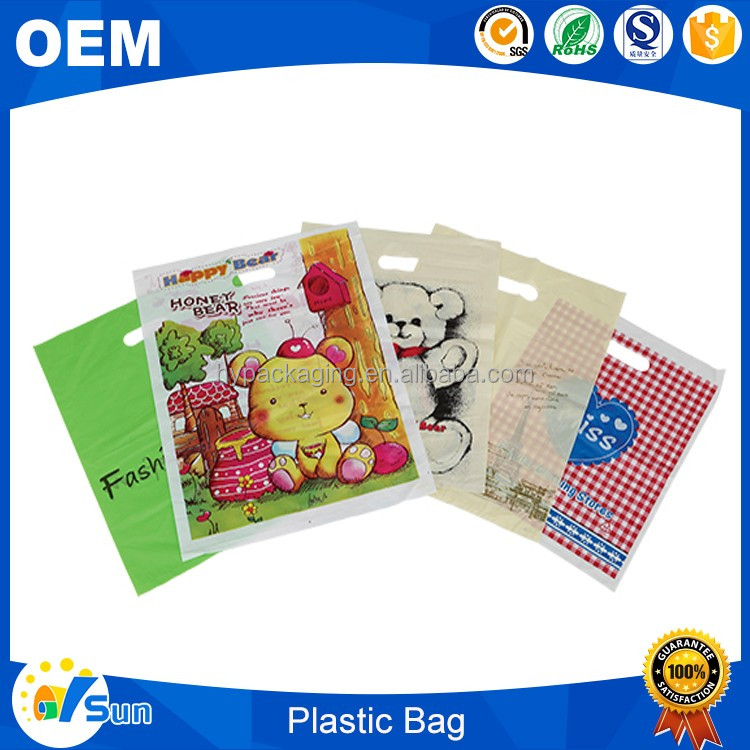 Quality Guarantee Good Tension Shopping Use Logo Printed LLDPE Custom Thickness 50 Micron Plastic Bag