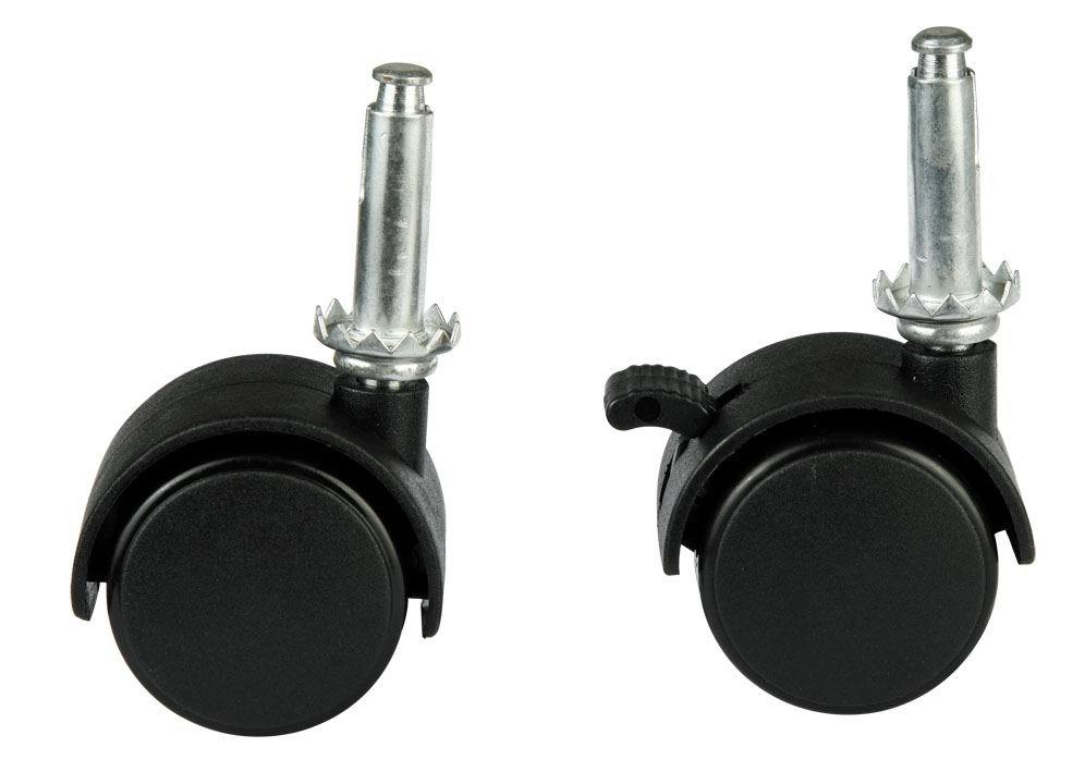 lounge or office chair wheels with metal pin and socket