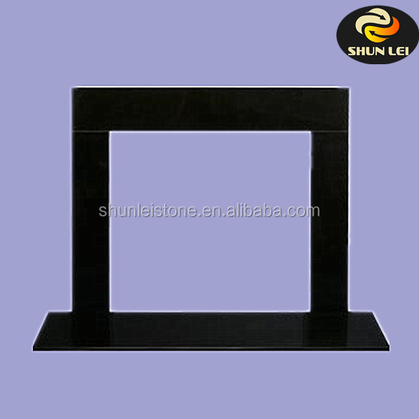 Black Granite Fireplace Surround Facing Kits Marble Stone Product