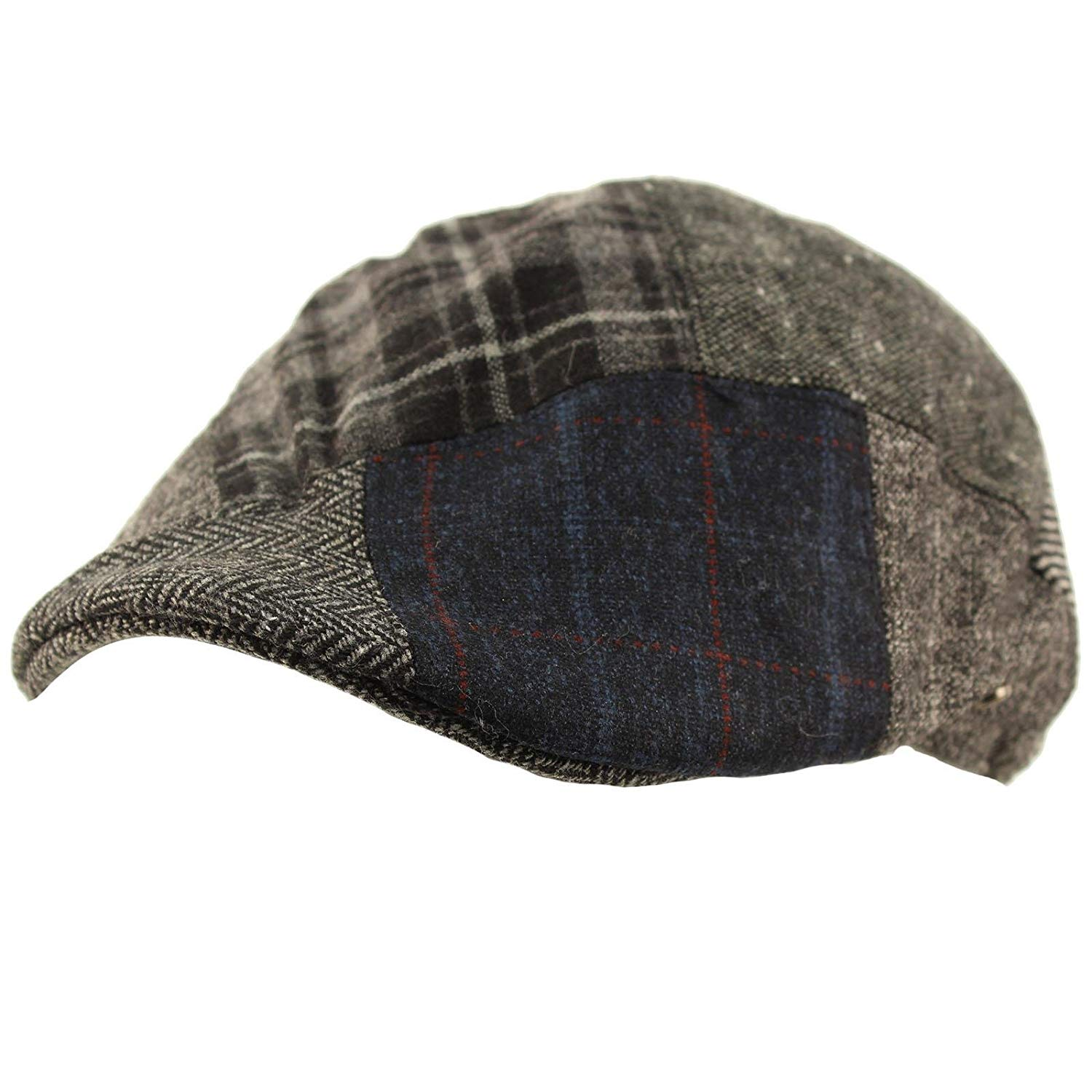 Get Quotations · Men s Winter Fall 100% Wool 14 Patch duckbill IVY Driver  Cabby Cap Hat fa2c69f7af37
