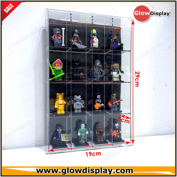 Kid-Safe Toy LEGO Men Minifigures Miniatures Figurines Display Case Wall Cabinet Stand