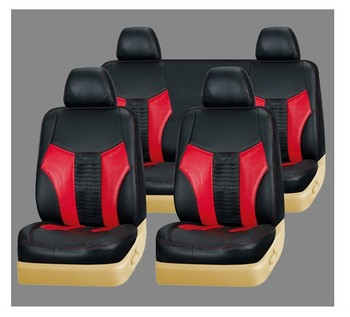 2018 Fashion Design Black With Red Color Pvc Leather Car Seat