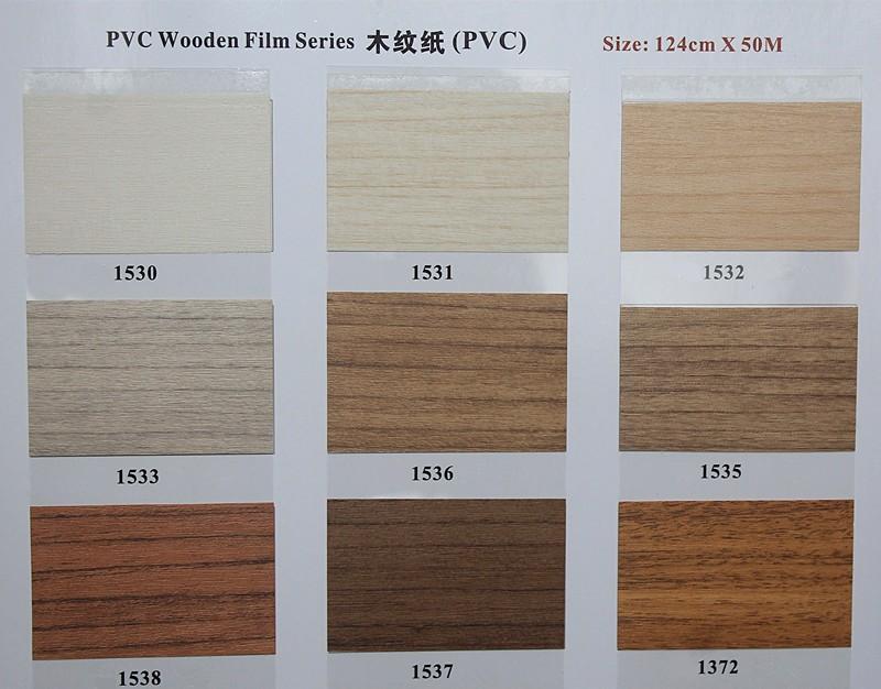 Self Adhesive Wood Grain Vinyl Film For Furniture Decoration,Pvc ...