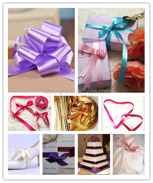 Hot Sale Single Face Festival Ribbon For Christmas Gift Packing