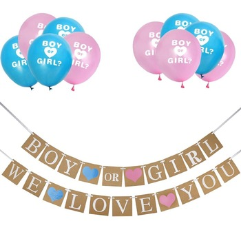 gender reveal party supplies kit boy or girl baby shower decorations