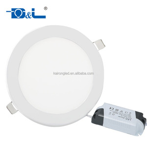 Indoor lighting 18 watt round recessed led ceiling panel light