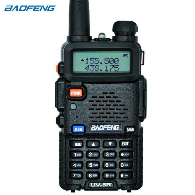 Baofeng UV-5R Walkie Talkie Dual Band FM VOX Dual Display Radio Communicator 5W two way radio for sale Cambodia