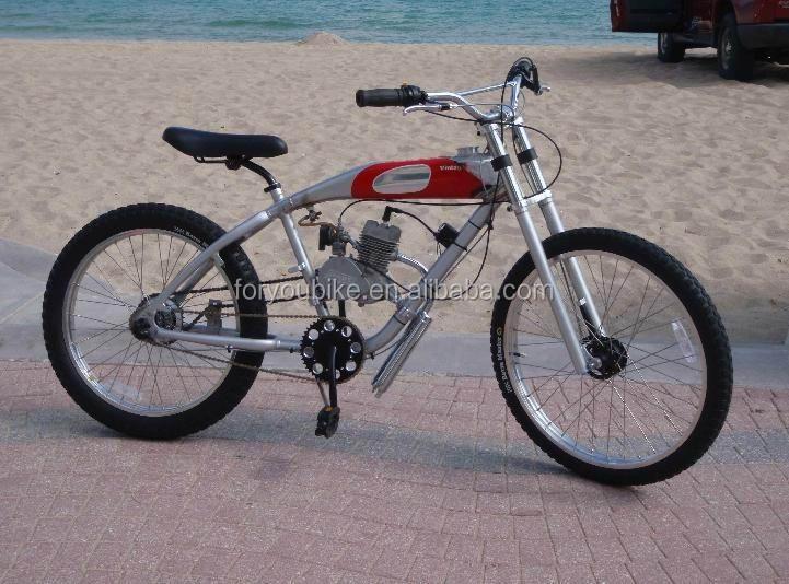 26 Inch Aluminium Gas Motor Bike Gasoline Bike Moto Beach Cruiser Bicycle Eng