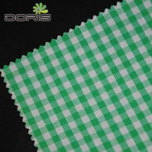 100% cotton 40s yarn-dyed gingham checked fabric for children and women's cloth