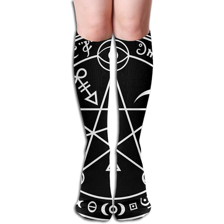 61f667143fa Get Quotations · Gothic Women s Fashion Knee High Socks Casual Socks