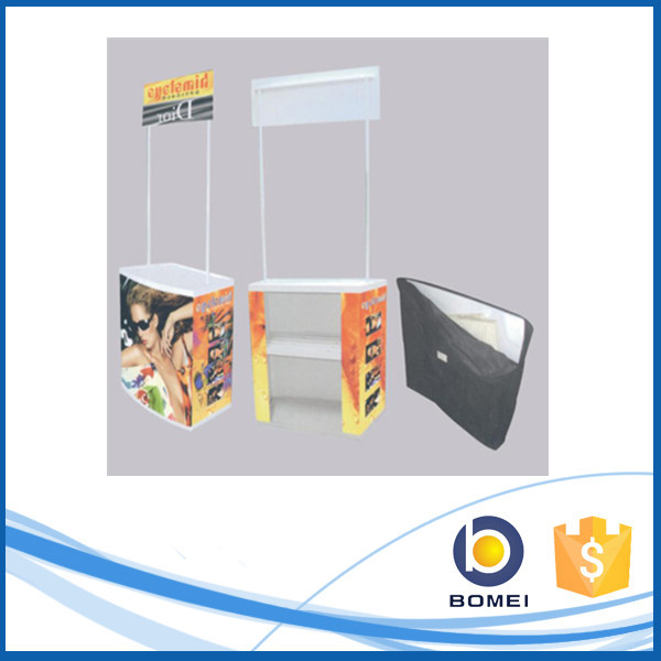 Portable collapsible plastic trade show promotion booth, ABS promotion table