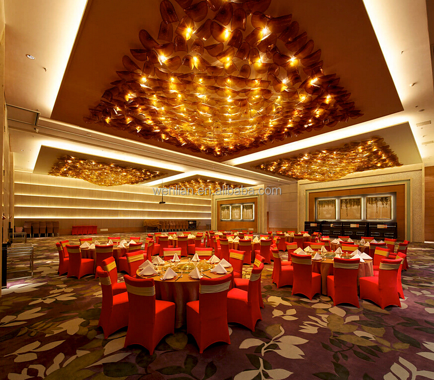 Large Hotel Banquet Hall Lighting Restaurant Lighting