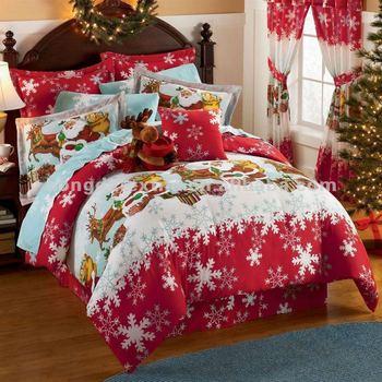 100% Cotton Printed Christmas Bedding Set - Buy Christmas Bedding ...