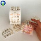 Custom Vinyl Roll Transparent Cosmetics Sticker Gold Foil Clear Private Labels for Perfume Bottle Stickers Printing
