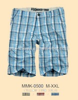 cotton yarn dyed checks shorts for men