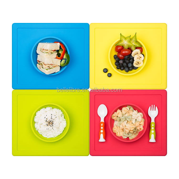 silicone baby placemat with suction cups&food pocket for <strong>kids</strong>