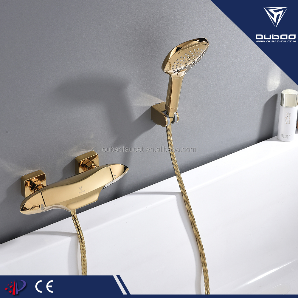 Thermostatic Mixing Valve Cartridge Hot & Cold Water Bath Shower Mixer Taps Set Thermostatic Shower Faucet OB-QY-8807