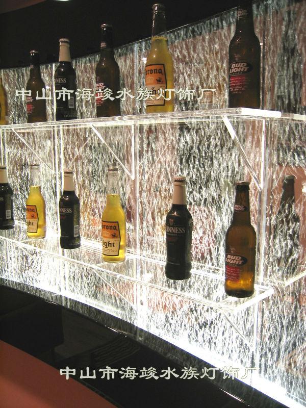 Liquor Display Rack Bubble Wall Innovative Wine Cabinet