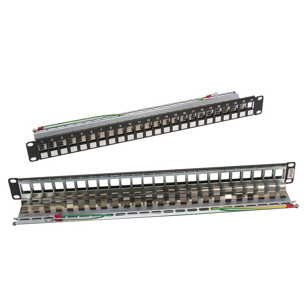 Cheap Cat6a Patch Panel Find Deals On Line At 568b Wiring Get Quotations Installerparts Cat 6a 24port Snap In For Stp Rj45 Keystone Jack