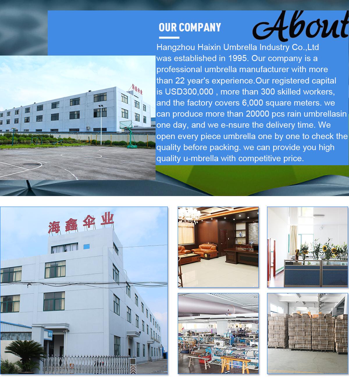 Hangzhou Haixin Umbrella Industry Co Ltd Bagus Anti Uv Blue Stripes Customized