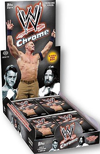 2014 Topps WWE CHROME HOBBY BOX (24 PACKS - 2 HITS PER BOX)