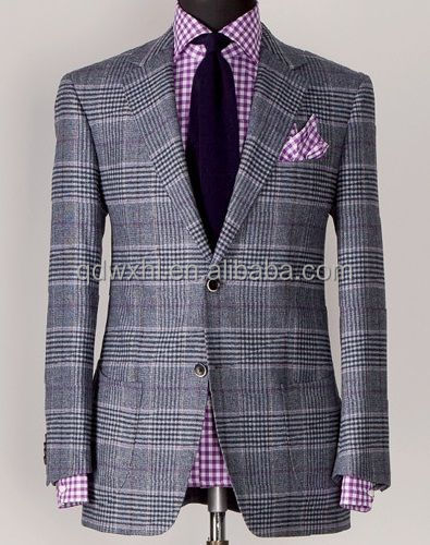 Handmade Suit Men Ready Made Mens Suits 100% Wool Business Suits