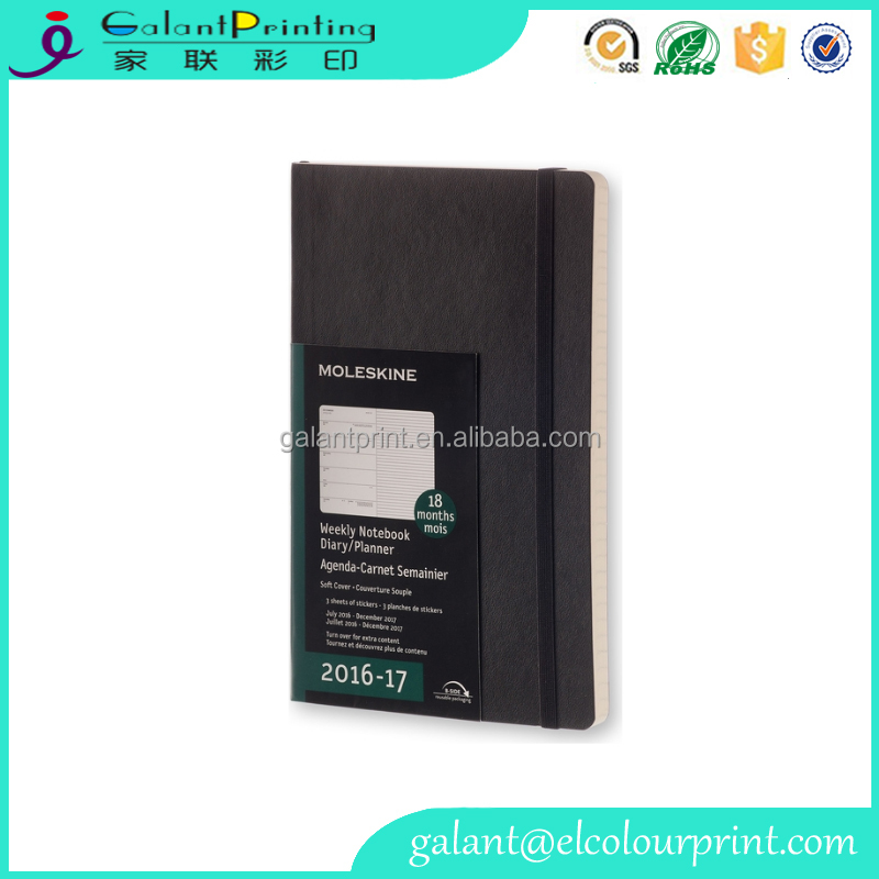 black soft leather cover notebooks blank diary ruled notebook