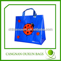 beetles printed recycled laminated pp woven bag