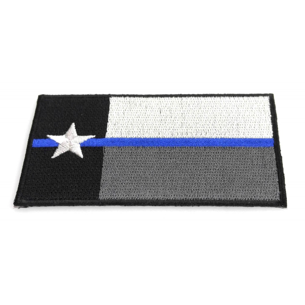 Thin Blue Line Texas State Flag Embroidery Patches Badges for Law Enforcement