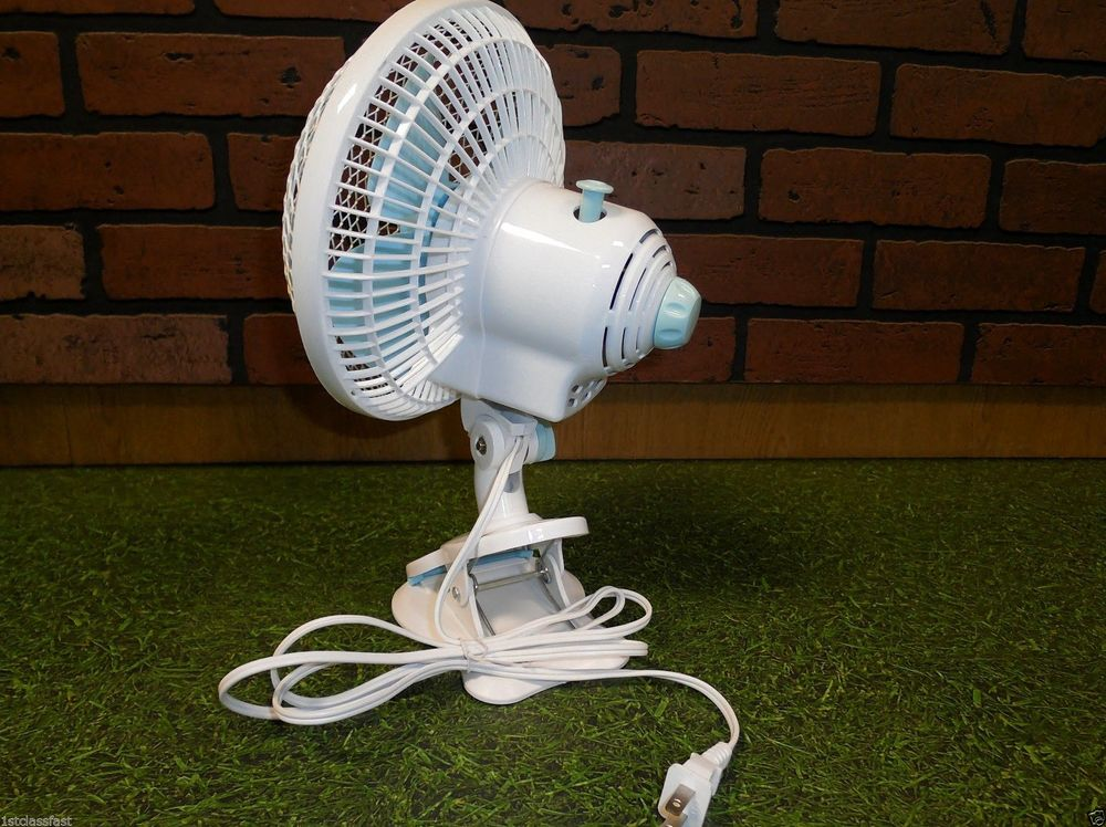 6 Clip On Desk Fan Oscillating Cooling Home Office 2 In 1 Cool Air