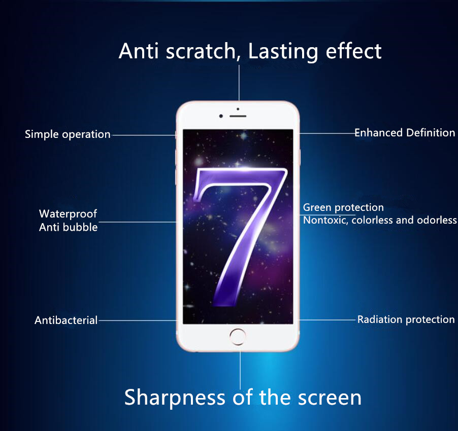OEM logo Hi-Tech 9H Hardness Nano Liquid Screen Protector for 8 Inches Tablet / Smartphones / Curved Screens / Watches