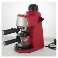 3.5bar 4 cups stainless steel filter automatically cappuccino espresso coffee maker machine