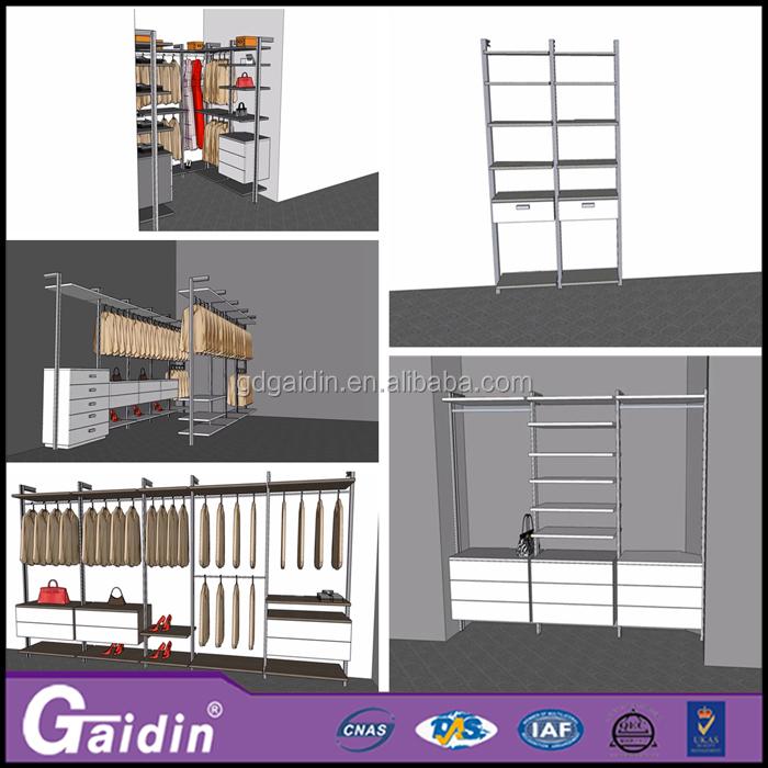 Hotel Supermarket Aluminium Profile Walkin Closet Built In Wardrobes Closet  Buy Wholesale From China Diy Pole