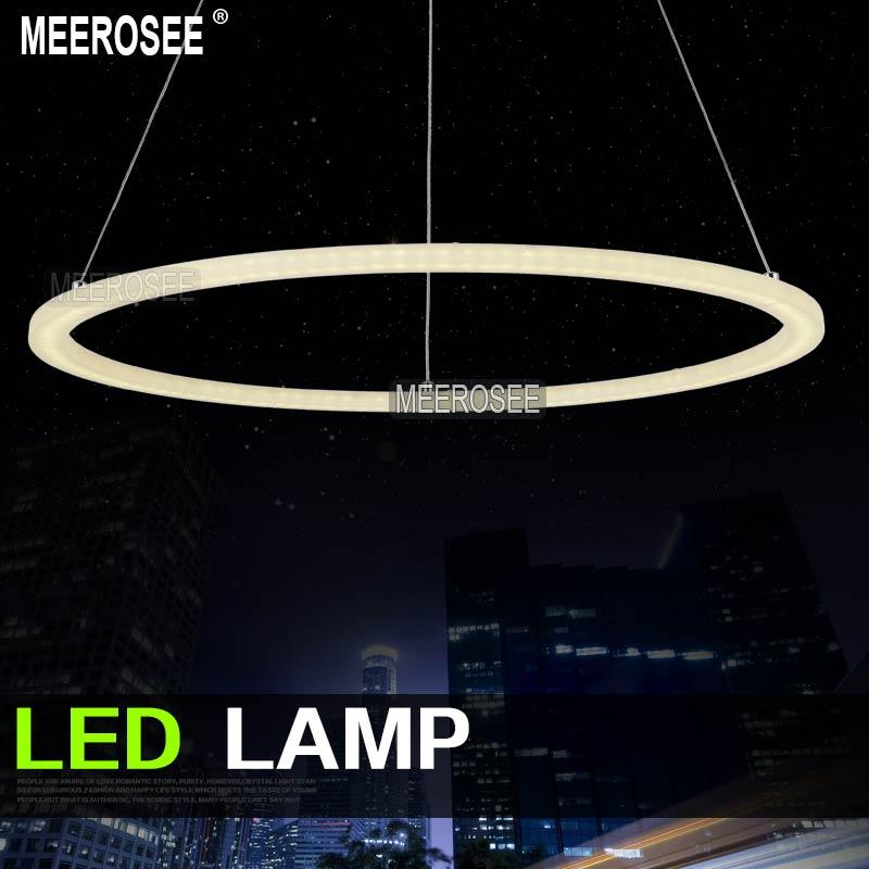 Meerosee Modern Led Ring Chandelier Light Fixture Led